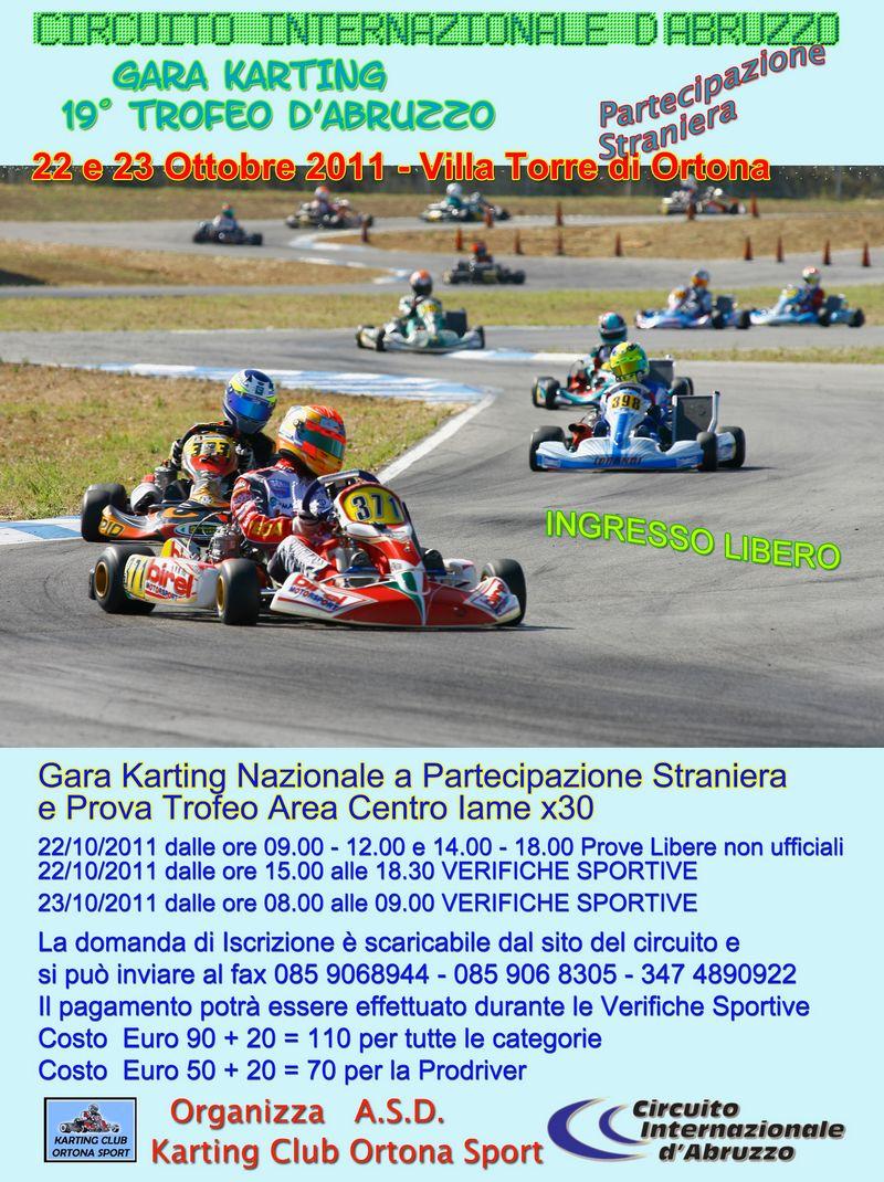 Circuito Ortona : A ortona il ottobre il ° trofeo d abruzzo kart vroomkart italia
