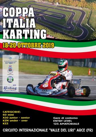 Il 20 ottobre ad Arce è di scena la Coppa Italia ACI Karting.