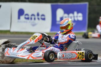 Un incidente in Prefinale ferma la rincorsa di Lorenzo Ferrari alla top5 nella WSK Super Master Series a Muro Leccese.