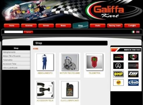 E' online il sito di eCommerce by Galiffa
