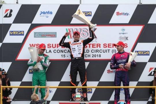 CRG, bel successo con De Conto in KZ2 nella WSK a La Conca