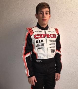Enzo Trulli con CRG nel 2018 per il debutto nelle gare internazionali