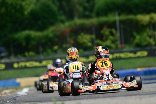 CRG sul podio con Meyer  nell'Euro X30 Junior di Castelletto
