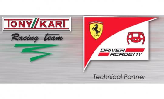 Tony Kart Racing Team è Technical Partner di Ferrari Driver Academy