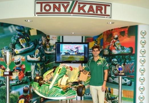 JAIME ALGUERSUARI AL MONDIALE KZ CON TONY KART RACING TEAM