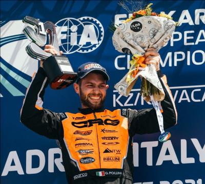 CRG vince il FIA European Championship KZ2 con Giacomo Pollini