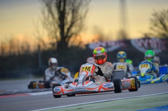 Buona la prima per Lorenzo Ferrari nella WSK Super Master Series