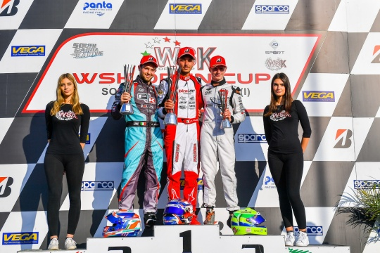 NGM Motorsport sul podio WSK con Giacomo Pollini