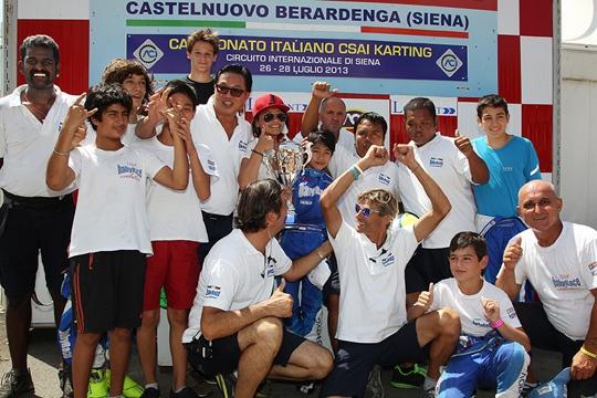 Oltre 180 piloti e gare spettacolari al Circuito di Siena per la terza prova del Campionato Italiano CSAI Karting
