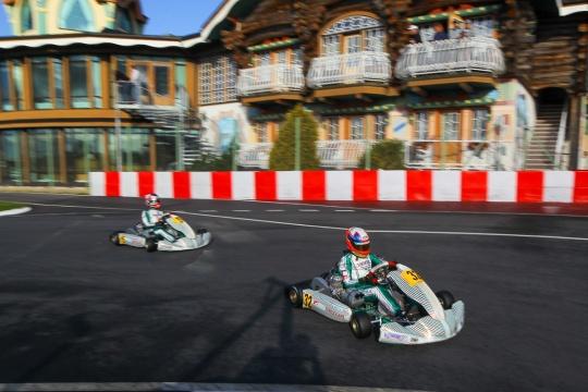 Tony Kart sul podio del Mondiale