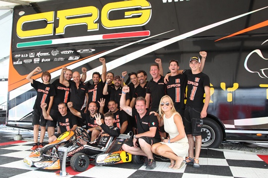 Alla Crg e Max Verstappen anche il Campionato Europeo CIK-Fia in KF. Gran risultato di tutta la squadra Crg