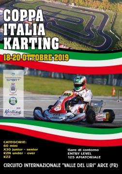 Il 20 ottobre ad Arce è di scena la Coppa Italia ACI Karting