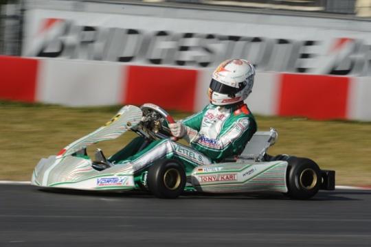 Vettel in kart col Tony Kart/Vortex OK