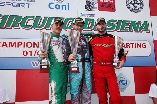 Assegnati a Siena i titoli tricolore Aci Karting