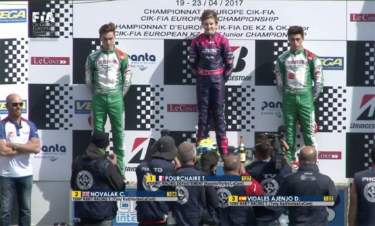 Europeo a Sarno, Pourchaire debutto vincente in OK