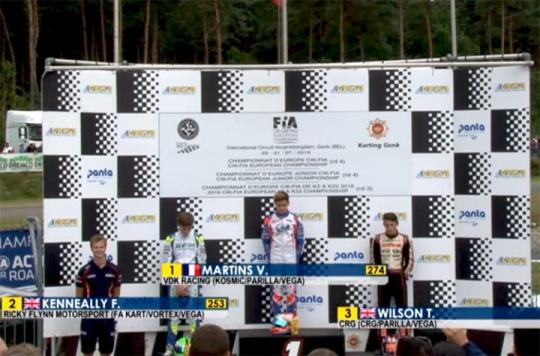 Europeo OKJ: Martins vince la finale, Kenneally il titolo
