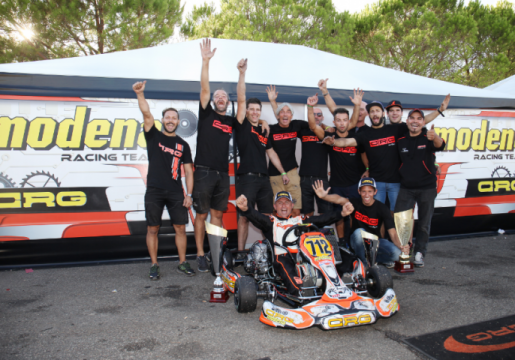Modena Kart con CRG conquista due titoli italiani con Di Lorenzo (KZ3 Under) e Tempesti (KZ3 Over)