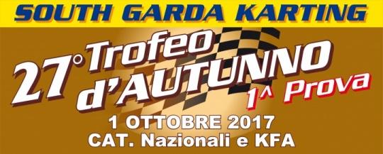 Domenica 1° ottobre la prima prova del Trofeo D'Autunno