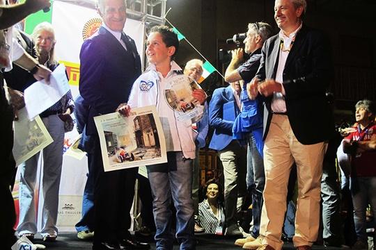 Alla cerimonia di partenza della Targa Florio anche un premio al piccolo Santo Macaluso