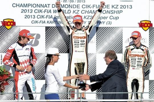 Mondiale Kart 2013, un podio da F1
