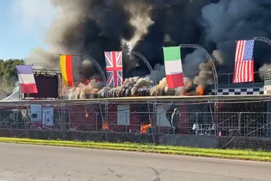 """Incendio al Circuito Internazionale """"Valle del Liri"""""""