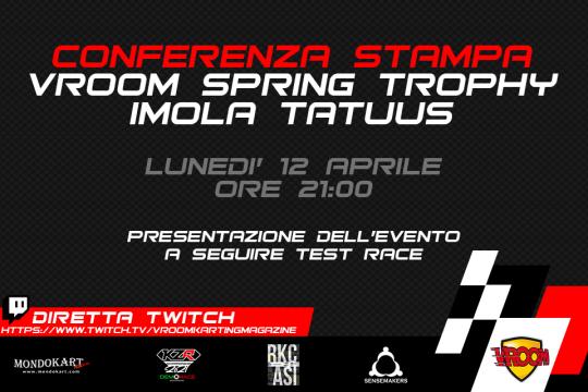 Lunedi 12 aprile conferenza stampa di presentazione del Vroom Spring Trophy
