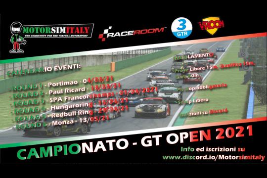 E' in corso il campionato GTOpen organizzato MotorSimItaly, divertimento e serietà garantiti