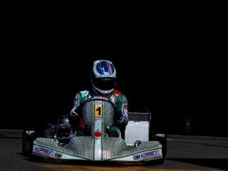 Marco Ardigò (Tony Kart/Vortex) in pista a Genk (OTK press)