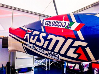 Luigi Coluccio con Kosmic Racing Department.
