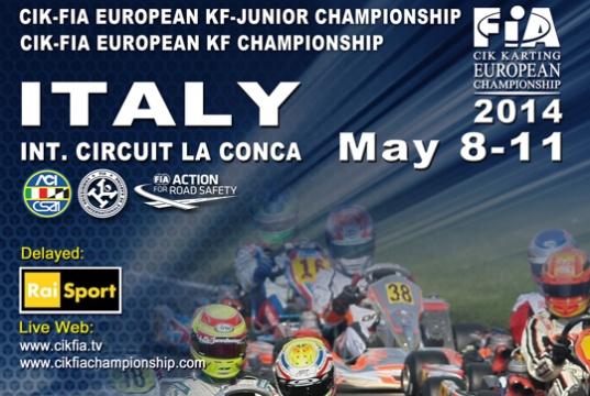 Parte l'Europeo CIK-FIA KF e KF Junior