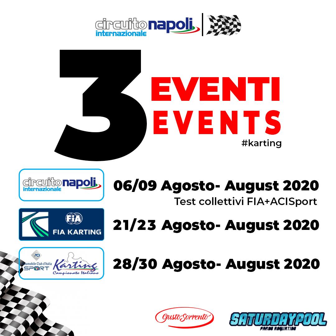 Circuito Internazionale Napoli: Test ad agosto