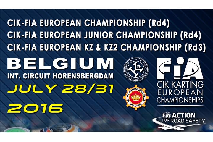 CIK-FIA European Championship KZ - KZ2 - OK - OKJ a Genk (B)