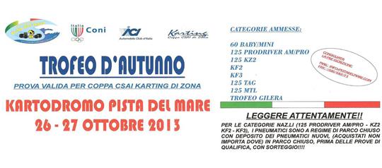 Trofeo D'Autunno 26/27 Ottobre 2013