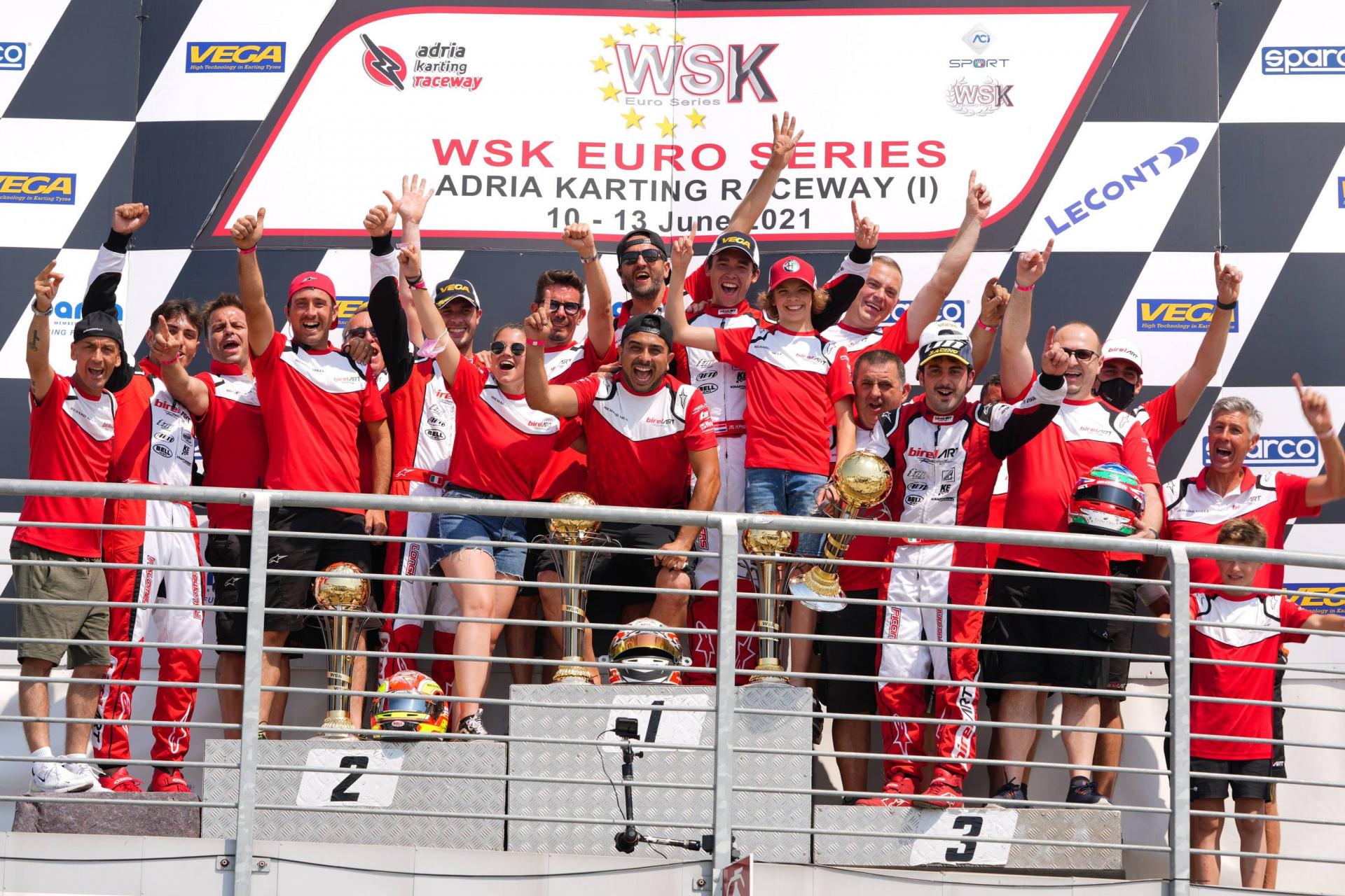 Trionfo rosso nella WSK ad Adria