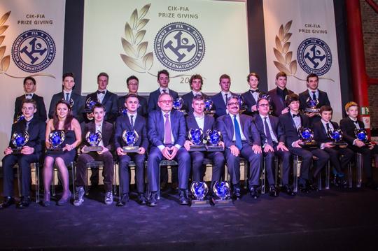 La CIK-FIA premia i campioni 2013