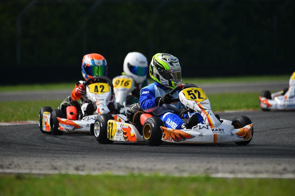 Flavio Olivieri conclude 4° nell'ACI Karting