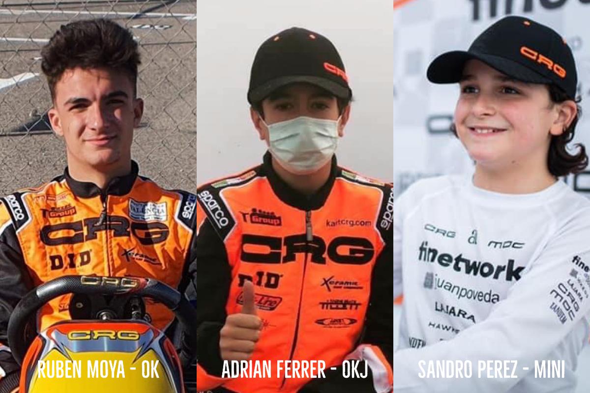 Perez (mini), Ferrer (junior) e Moya (ok) completano la drivers line-up di CRG
