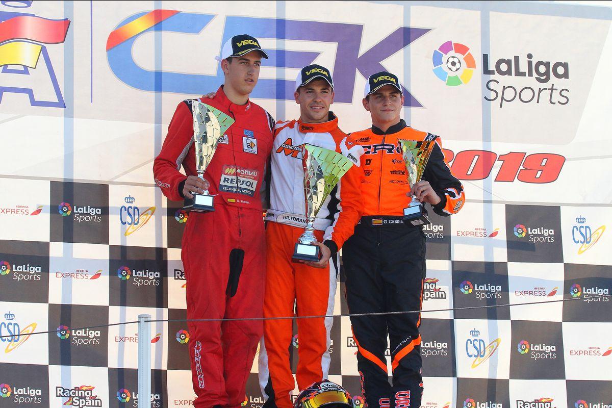 CRG Campione in Spagna con Hiltbrand in KZ2 e Fontecha nella Senior