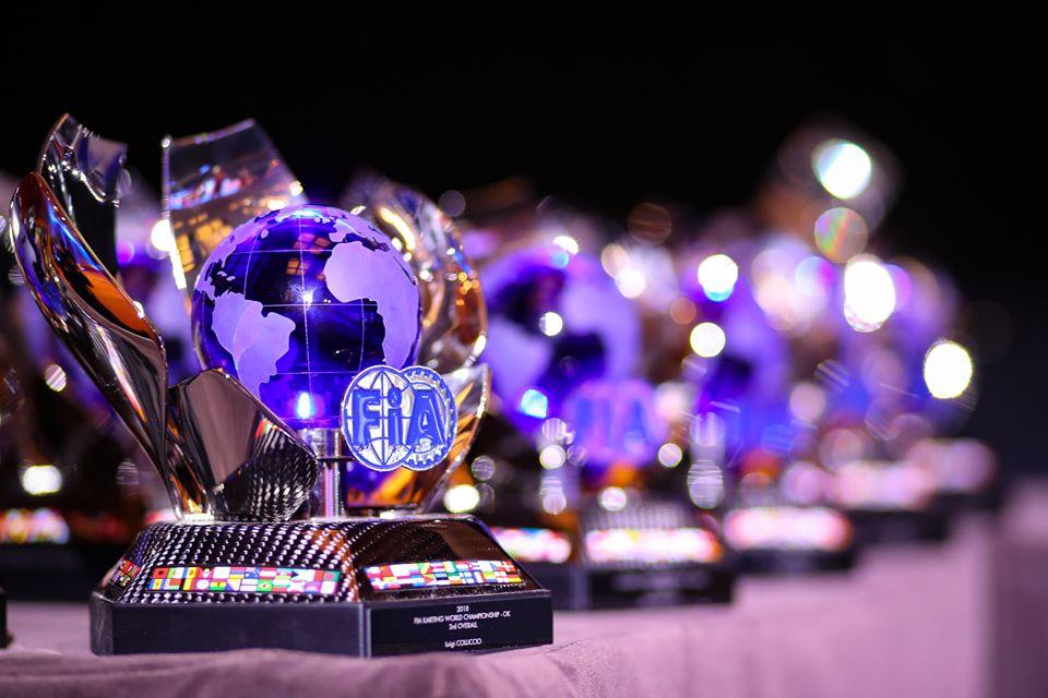 La cerimonia di premiazione chiude la stagione FIA Karting