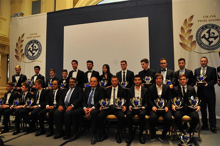 I campioni CIK-FIA 2016 premiati a Vienna
