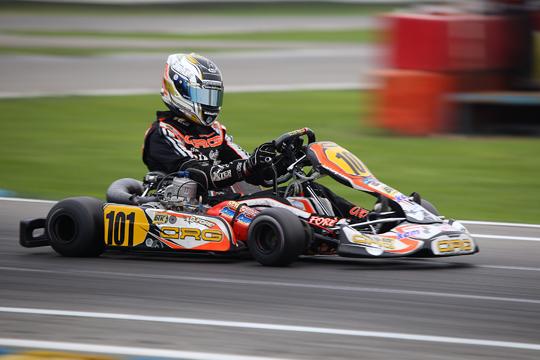 CRG alla WSK Final Cup in KFJ con i motori TM di Galiffa Kart. Forè velocissimo in KZ2