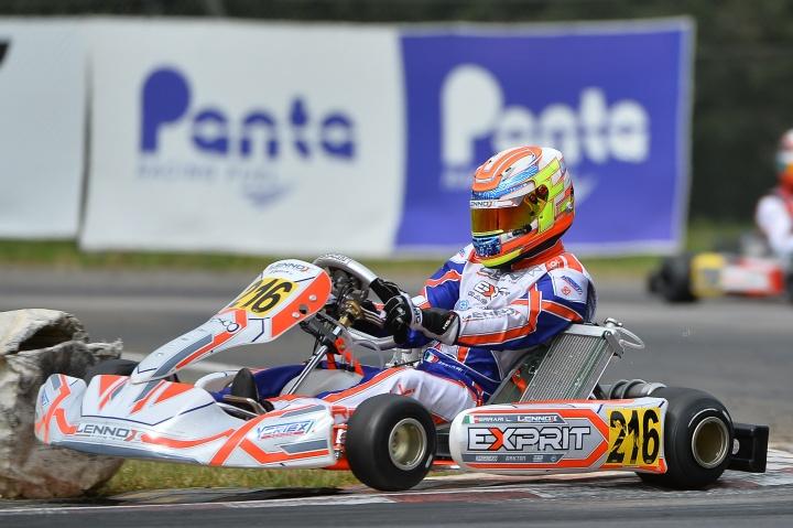 Un incidente in Prefinale ferma la rincorsa di Lorenzo Ferrari alla top5 nella WSK Super Master Series a Muro Leccese