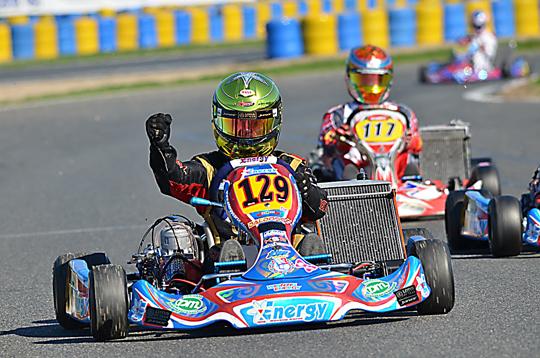 Boccolacci trionfa al debutto in KZ2