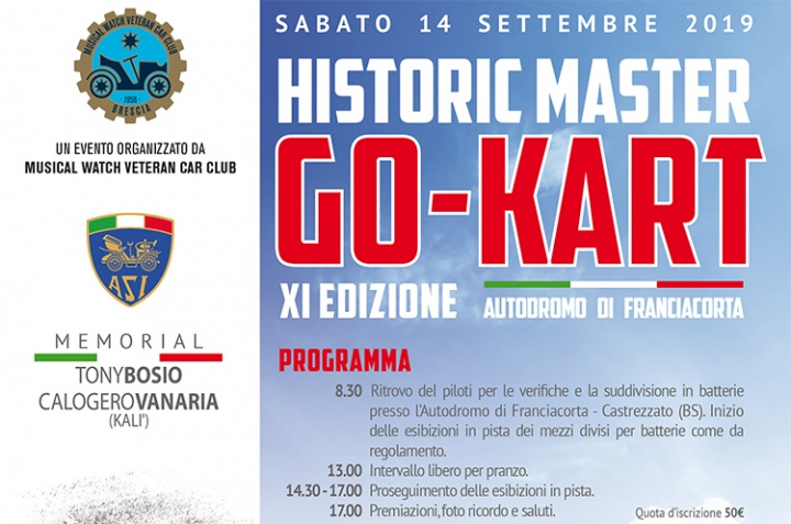 Tutto pronto per l'Historic Master