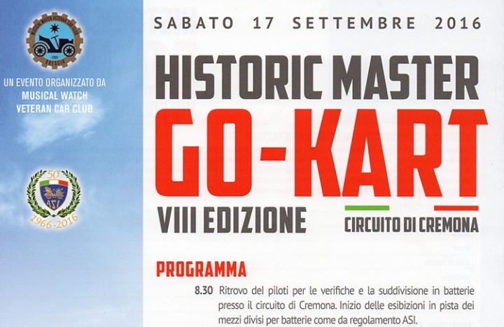 A San Martino l'8° Historic Master Go Kart