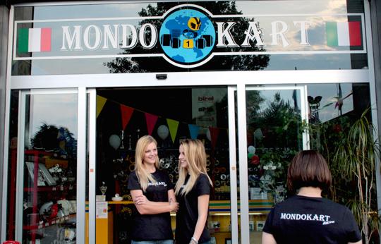 L'inaugurazione del nuovo Mondokart