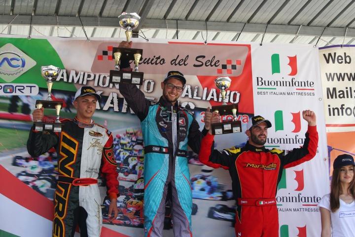 Conferme e nuovi protagonisti nel Campionato Italiano ACI Karting a Battipaglia