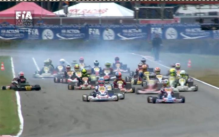 Europeo KZ2, Lorandi domina Prefinale 1, Viganò di forza in Prefinale 2