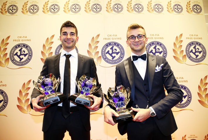 Paolo De Conto e Alex Irlando premiati da CIK-FIA per i loro successi nella stagione internazionale Karting