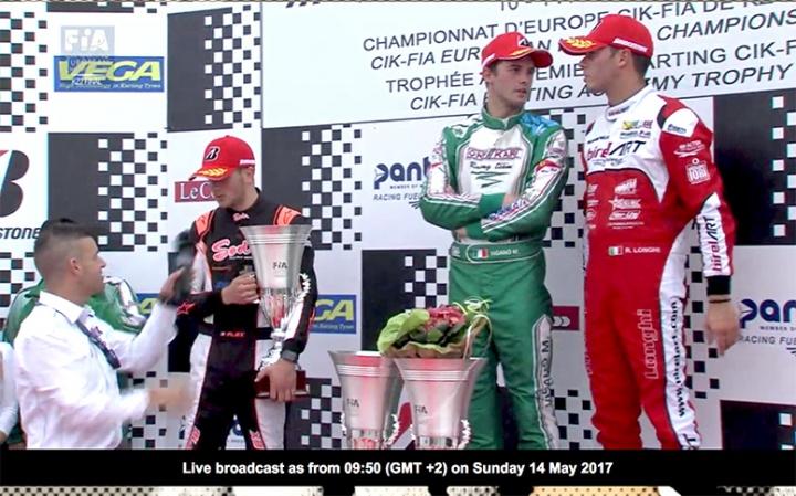 Europeo KZ2, Viganò sul podio tutto azzurro